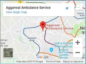 Aggarwal Ambulance Location Map
